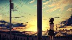 动漫夕阳风景桌面壁纸
