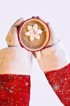 圣诞节热巧克力饮品图片