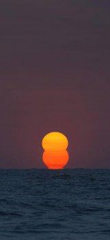 高清海上日落日出手机壁纸