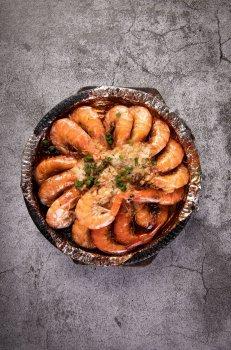 可口蒜蓉大虾图片