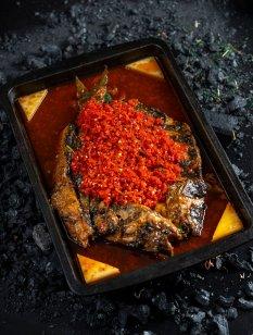 让人回味无穷的美味烤鱼图