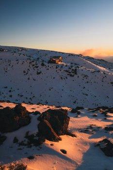新西兰的冬日滑雪场