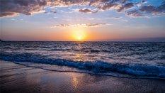 唯美海滩风景高清桌面壁纸