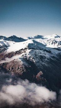 自然奇幻雪山场景摄影高清