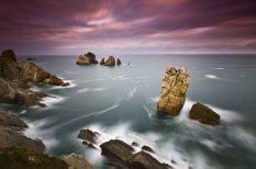 西班牙海岸的美丽风光