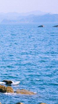 蔚蓝色海洋风光高清手机壁