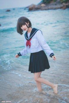 海边JK美女一千只猫薄禾